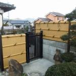 施工後:フェンス