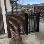 施工前:フェンス