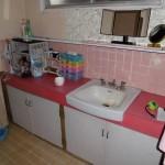 施工前:洗面化粧台